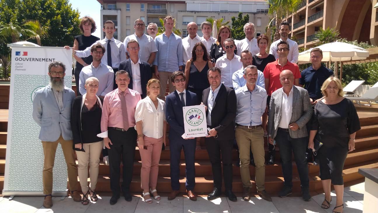 Photo de groupe des lauréats du plan Relance France