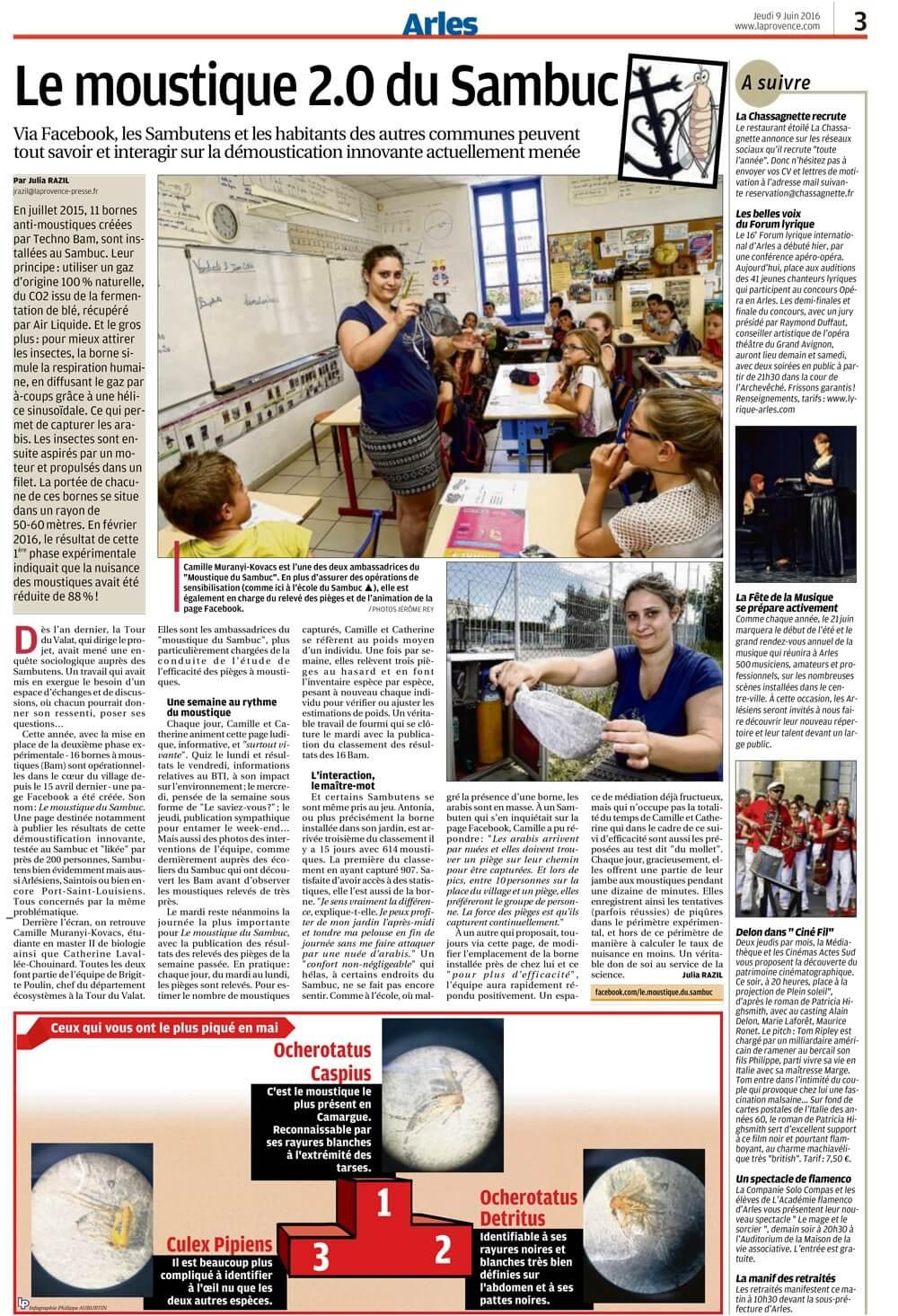 Article du 09/06/2016 - La Provence - Arles