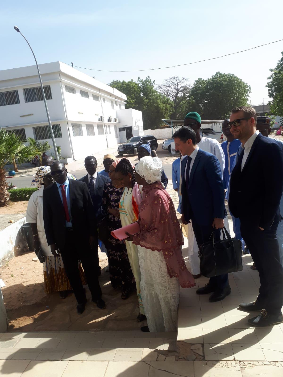 Visite de l'hôpital de Région de Kaolack avec l'équipe Qista