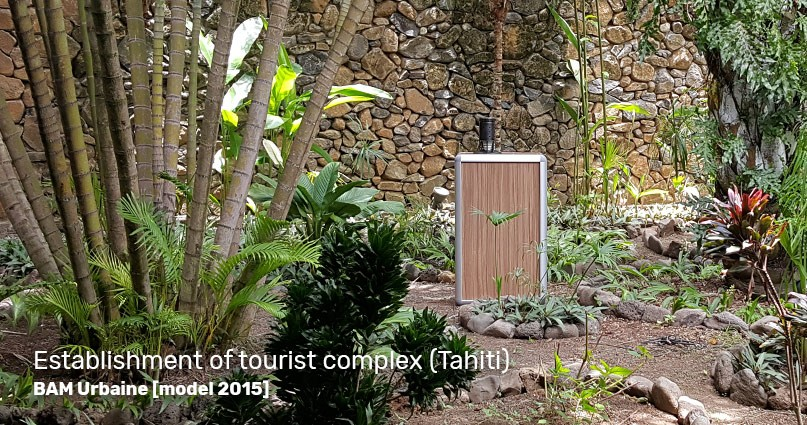 BAM Urbaine in operation - installation of the mosquito control trap in Tahiti